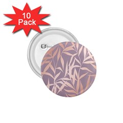 Rose Gold, Asian,leaf,pattern,bamboo Trees, Beauty, Pink,metallic,feminine,elegant,chic,modern,wedding 1 75  Buttons (10 Pack) by 8fugoso