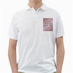 Rose Gold, Asian,leaf,pattern,bamboo Trees, Beauty, Pink,metallic,feminine,elegant,chic,modern,wedding Golf Shirts