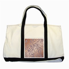 Rose Gold, Asian,leaf,pattern,bamboo Trees, Beauty, Pink,metallic,feminine,elegant,chic,modern,wedding Two Tone Tote Bag