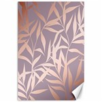 rose gold, asian,leaf,pattern,bamboo trees, beauty, pink,metallic,feminine,elegant,chic,modern,wedding Canvas 24  x 36  36 x24 Canvas - 1