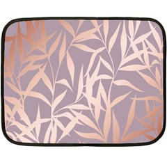 Rose Gold, Asian,leaf,pattern,bamboo Trees, Beauty, Pink,metallic,feminine,elegant,chic,modern,wedding Fleece Blanket (mini)