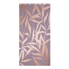 Rose Gold, Asian,leaf,pattern,bamboo Trees, Beauty, Pink,metallic,feminine,elegant,chic,modern,wedding Shower Curtain 36  X 72  (stall)  by 8fugoso