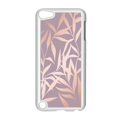 Rose Gold, Asian,leaf,pattern,bamboo Trees, Beauty, Pink,metallic,feminine,elegant,chic,modern,wedding Apple Ipod Touch 5 Case (white) by 8fugoso