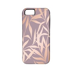 Rose Gold, Asian,leaf,pattern,bamboo Trees, Beauty, Pink,metallic,feminine,elegant,chic,modern,wedding Apple Iphone 5 Classic Hardshell Case (pc+silicone)