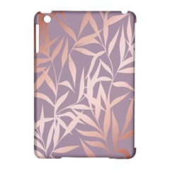 Rose Gold, Asian,leaf,pattern,bamboo Trees, Beauty, Pink,metallic,feminine,elegant,chic,modern,wedding Apple Ipad Mini Hardshell Case (compatible With Smart Cover)