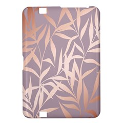 Rose Gold, Asian,leaf,pattern,bamboo Trees, Beauty, Pink,metallic,feminine,elegant,chic,modern,wedding Kindle Fire Hd 8 9
