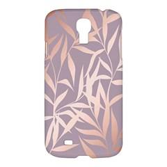 Rose Gold, Asian,leaf,pattern,bamboo Trees, Beauty, Pink,metallic,feminine,elegant,chic,modern,wedding Samsung Galaxy S4 I9500/i9505 Hardshell Case by 8fugoso