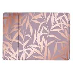 Rose Gold, Asian,leaf,pattern,bamboo Trees, Beauty, Pink,metallic,feminine,elegant,chic,modern,wedding Samsung Galaxy Tab 10 1  P7500 Flip Case
