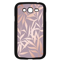 Rose Gold, Asian,leaf,pattern,bamboo Trees, Beauty, Pink,metallic,feminine,elegant,chic,modern,wedding Samsung Galaxy Grand Duos I9082 Case (black) by 8fugoso