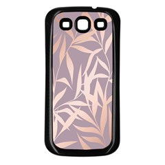Rose Gold, Asian,leaf,pattern,bamboo Trees, Beauty, Pink,metallic,feminine,elegant,chic,modern,wedding Samsung Galaxy S3 Back Case (black) by 8fugoso