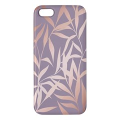 Rose Gold, Asian,leaf,pattern,bamboo Trees, Beauty, Pink,metallic,feminine,elegant,chic,modern,wedding Iphone 5s/ Se Premium Hardshell Case
