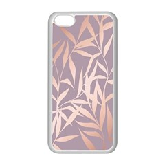 Rose Gold, Asian,leaf,pattern,bamboo Trees, Beauty, Pink,metallic,feminine,elegant,chic,modern,wedding Apple Iphone 5c Seamless Case (white) by 8fugoso