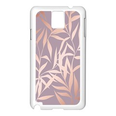 Rose Gold, Asian,leaf,pattern,bamboo Trees, Beauty, Pink,metallic,feminine,elegant,chic,modern,wedding Samsung Galaxy Note 3 N9005 Case (white) by 8fugoso