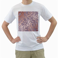 Rose Gold, Asian,leaf,pattern,bamboo Trees, Beauty, Pink,metallic,feminine,elegant,chic,modern,wedding Men s T Shirt (white)