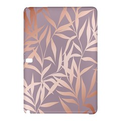 Rose Gold, Asian,leaf,pattern,bamboo Trees, Beauty, Pink,metallic,feminine,elegant,chic,modern,wedding Samsung Galaxy Tab Pro 10 1 Hardshell Case