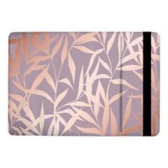 Rose Gold, Asian,leaf,pattern,bamboo Trees, Beauty, Pink,metallic,feminine,elegant,chic,modern,wedding Samsung Galaxy Tab Pro 10 1  Flip Case by 8fugoso
