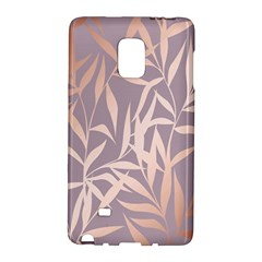 Rose Gold, Asian,leaf,pattern,bamboo Trees, Beauty, Pink,metallic,feminine,elegant,chic,modern,wedding Galaxy Note Edge