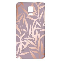 Rose Gold, Asian,leaf,pattern,bamboo Trees, Beauty, Pink,metallic,feminine,elegant,chic,modern,wedding Galaxy Note 4 Back Case by 8fugoso