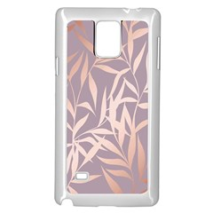 Rose Gold, Asian,leaf,pattern,bamboo Trees, Beauty, Pink,metallic,feminine,elegant,chic,modern,wedding Samsung Galaxy Note 4 Case (white) by 8fugoso