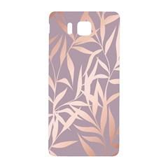 Rose Gold, Asian,leaf,pattern,bamboo Trees, Beauty, Pink,metallic,feminine,elegant,chic,modern,wedding Samsung Galaxy Alpha Hardshell Back Case