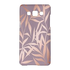 Rose Gold, Asian,leaf,pattern,bamboo Trees, Beauty, Pink,metallic,feminine,elegant,chic,modern,wedding Samsung Galaxy A5 Hardshell Case