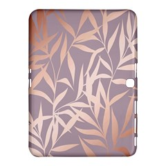Rose Gold, Asian,leaf,pattern,bamboo Trees, Beauty, Pink,metallic,feminine,elegant,chic,modern,wedding Samsung Galaxy Tab 4 (10 1 ) Hardshell Case