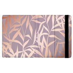 Rose Gold, Asian,leaf,pattern,bamboo Trees, Beauty, Pink,metallic,feminine,elegant,chic,modern,wedding Apple Ipad Pro 12 9   Flip Case