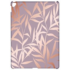Rose Gold, Asian,leaf,pattern,bamboo Trees, Beauty, Pink,metallic,feminine,elegant,chic,modern,wedding Apple Ipad Pro 12 9   Hardshell Case