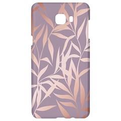 Rose Gold, Asian,leaf,pattern,bamboo Trees, Beauty, Pink,metallic,feminine,elegant,chic,modern,wedding Samsung C9 Pro Hardshell Case  by 8fugoso