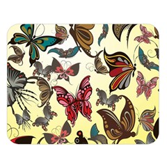 Colorful Butterflies Double Sided Flano Blanket (large)  by allthingseveryone