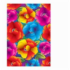Neon Colored Floral Pattern Small Garden Flag (two Sides) by allthingseveryone