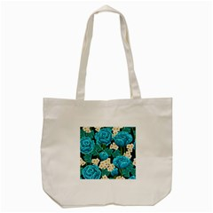Light Blue Roses And Daisys Tote Bag (cream) by AllThingsEveryone