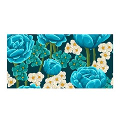 Light Blue Roses And Daisys Satin Wrap