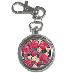 Pink Roses And Daisies Key Chain Watches by allthingseveryone