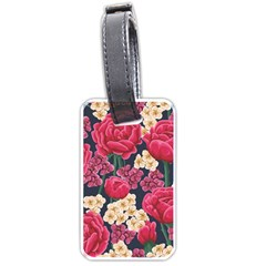 Pink Roses And Daisies Luggage Tags (one Side)  by allthingseveryone