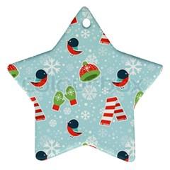 Winter Fun Pattern Ornament (star) by allthingseveryone