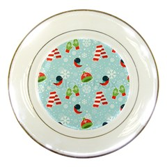 Winter Fun Pattern Porcelain Plates by allthingseveryone