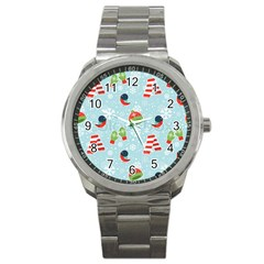 Winter Fun Pattern Sport Metal Watch by allthingseveryone