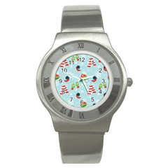 Winter Fun Pattern Stainless Steel Watch by AllThingsEveryone