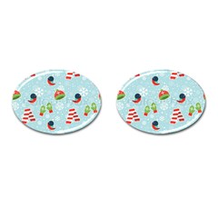 Winter Fun Pattern Cufflinks (oval) by AllThingsEveryone