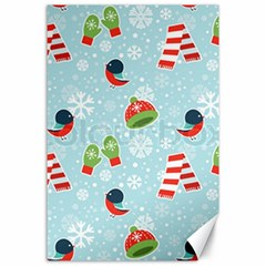 Winter Fun Pattern Canvas 24  X 36  by allthingseveryone