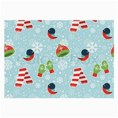 Winter Fun Pattern Large Glasses Cloth by AllThingsEveryone