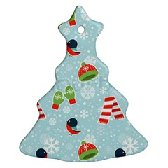 Winter Fun Pattern Christmas Tree Ornament (two Sides) by AllThingsEveryone