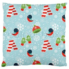 Winter Fun Pattern Large Cushion Case (two Sides) by allthingseveryone