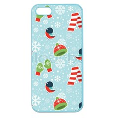 Winter Fun Pattern Apple Seamless Iphone 5 Case (color) by allthingseveryone