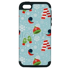 Winter Fun Pattern Apple Iphone 5 Hardshell Case (pc+silicone) by allthingseveryone