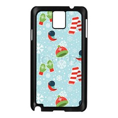 Winter Fun Pattern Samsung Galaxy Note 3 N9005 Case (black) by AllThingsEveryone