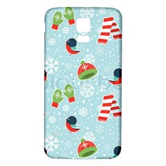 Winter Fun Pattern Samsung Galaxy S5 Back Case (white) by allthingseveryone
