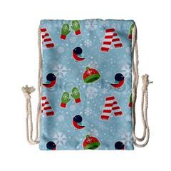 Winter Fun Pattern Drawstring Bag (small) by allthingseveryone