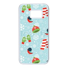 Winter Fun Pattern Samsung Galaxy S7 White Seamless Case by AllThingsEveryone